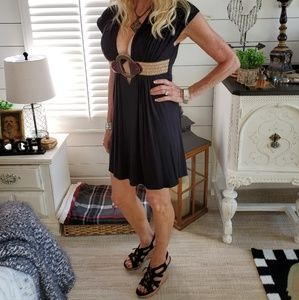 Sky black dress
